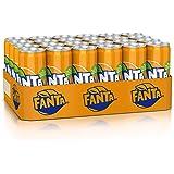 Fanta Orange, Super frische Limonade mit Orangengeschmack und Spaß-Garantie in coolen Dosen, EINWEG Dose (24 x 330 ml)