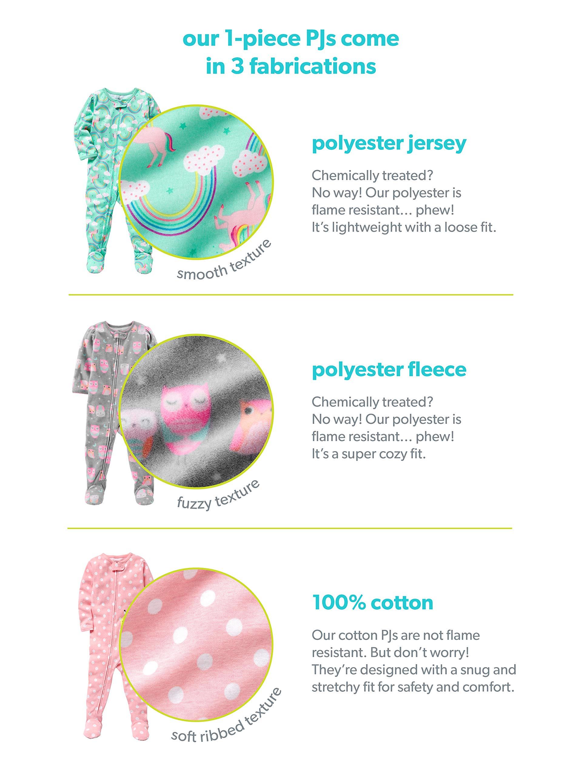 Simple Joys by Carter's 3-Pack Snug Fit Footless Cotton Pajamas Bebé-Niñas 4