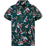 Original King Kameha | Funky Camisa Hawaiana Señores | XS-6XL |Manga Corta Bolsillo Delantero | impresión De Hawaii| Navidad