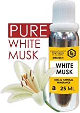 WHITE MUSK 25 ML, Real and Long Lasting Attar, 0% Alcohol,Best Attar For Man