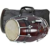 GT manufacturers Wooden Musical Instrument Dholak Drum Nuts & Bolt With Bag Design1 (Brown)