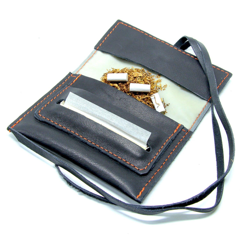Mavà, Mini Portatabacco in vera pelle artigianale Black Mamba