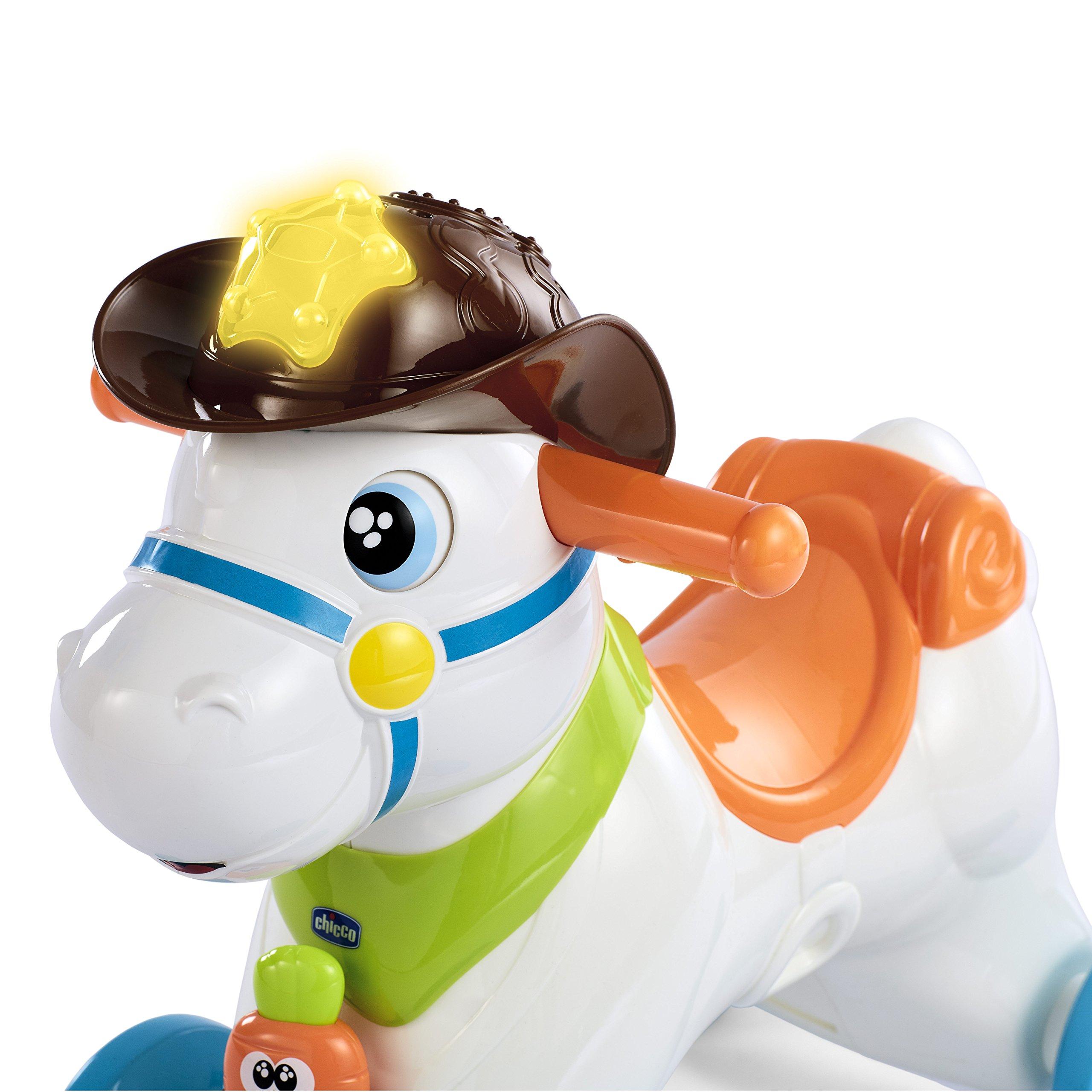 Cavallo Cavalcabile Chicco.Chicco Rodeo Cavallo A Dondolo Gioco Interattivo Cavalcabile Adatto Da 1 Anno 30 X 58 X 64 Cm