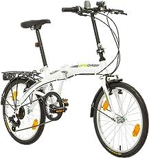 Multibrand, PROBIKE FOLDING 20, 20 Zoll, 310 mm, Folding City Bike, 6 Geschwindigkeit, Unisex, Vorne + Hinten Kotflügel, Shimano, Komplett montiert