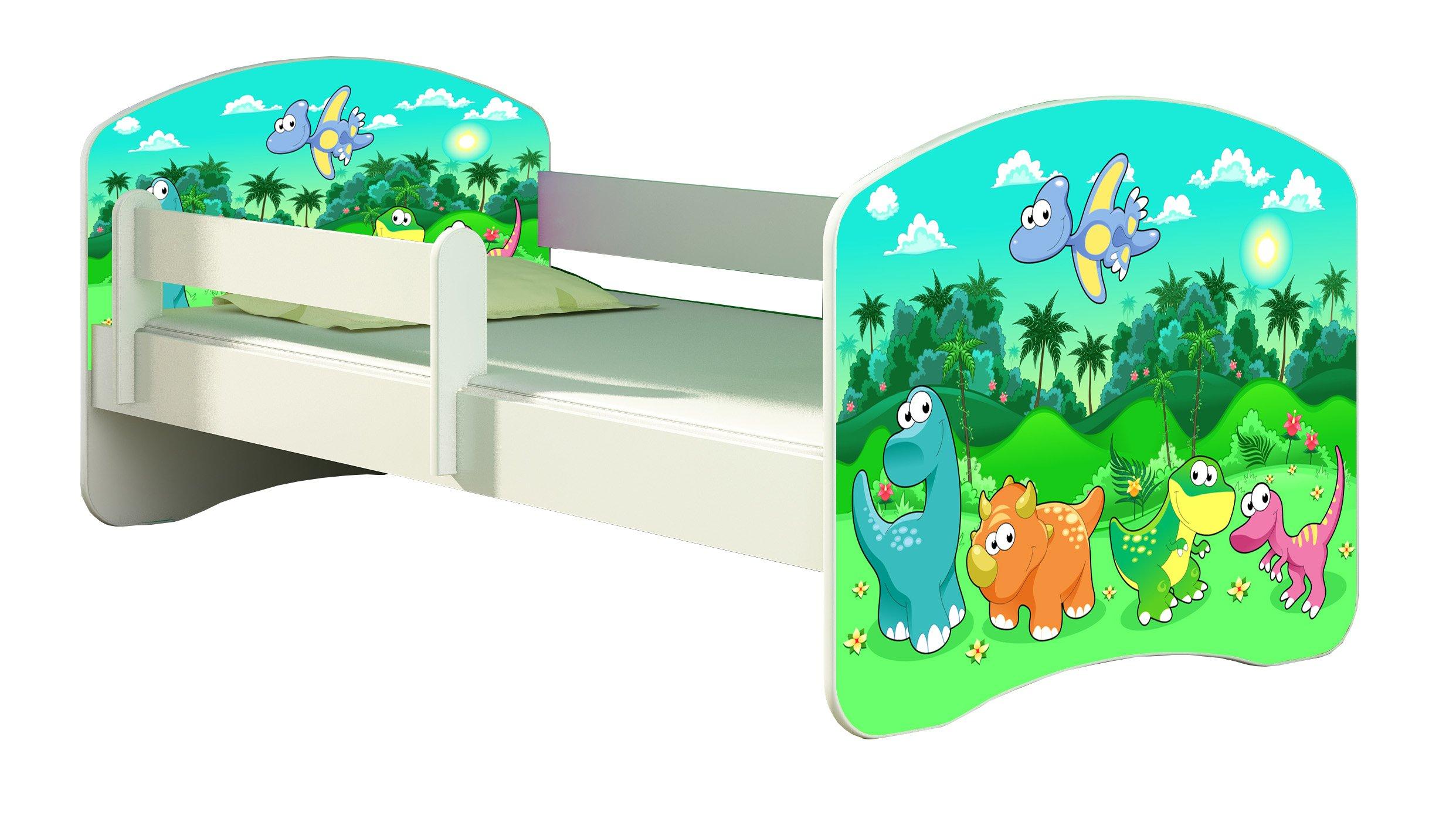 CHILDREN TODDLER KIDS BED + FREE MATTRESS 140x70 (30 Dinosaurs) ACMA  1