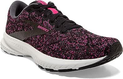 Brooks Womens Launch 7 Running Shoe - Black/Ebony/Beetroot - B - 5