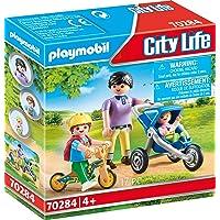Playmobil Maman avec Enfants, Coffre de Figurine 70284 Coloré