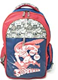 HMI Original Licensed Super Man 37 cms Multi-Colour School Backpack (HMHISB 30660-SUP)