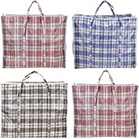 AAYAW Pack of 4 Extra Large panier a linge , panier rangement , panier osier, Strong Laundry, Storage bags, Cloth…