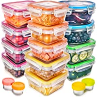 Fullstar Lot de 17 boîtes de rangement en plastique avec couvercles - Sans BPA