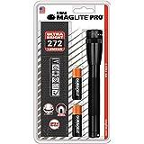 Mag-Lite SP2P01H, 272 Lumen, Mini Mag Pro Lampe de Poche LED Métal Noir 17 cm