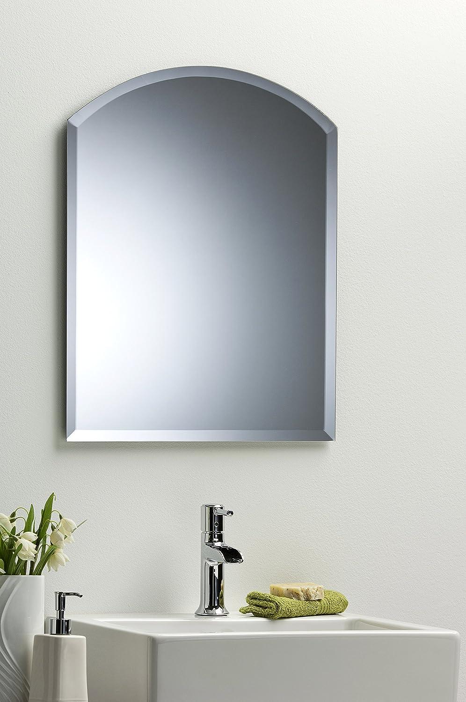 Arch Bathroom Wall Mirror Modern Stylish With Bevel Plain 2 Sizes
