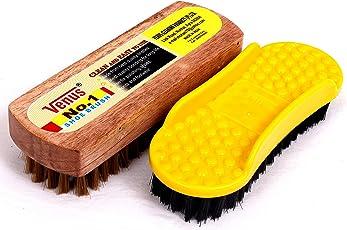 Venus Shoe Dusting Brush & Polish Brush Combo
