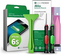 GIGA Fixxoo iPhone 6s Lithium-Ionen Akku Austausch-Set mit Bildanleitung zum Selbermachen; Komplettes Werkzeug Set zur Schnellen & Einfachen Reparatur
