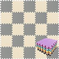 qqpp Tappeto Bambini Puzzle con Certificato CE in Morbido Gomma Eva   Tappeti da Gioco per Bambina   Tatami. 18 Pezzi…