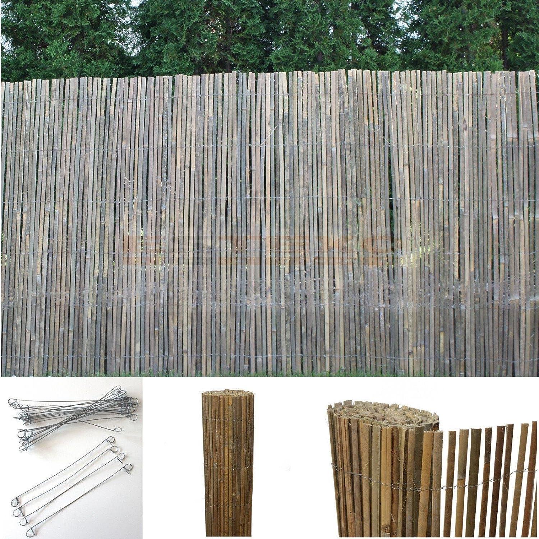 Amazon Bambus Sichtschutzmatte Windschutz Bambusmatte