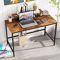 HOMEYFINE Bureau d'ordinateur,Table d'ordinateur Portable avec Rangement pour contrôleur,en Bois et métal,Table d'étude…