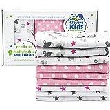 Nilpferdchen-Twinklestars wei/ß Spuckt/ücher Mullwindeln 70x80 Clevere Kids Mullt/ücher Sterne grau 6er Pack doppelt gewebt |OEKO-TEX
