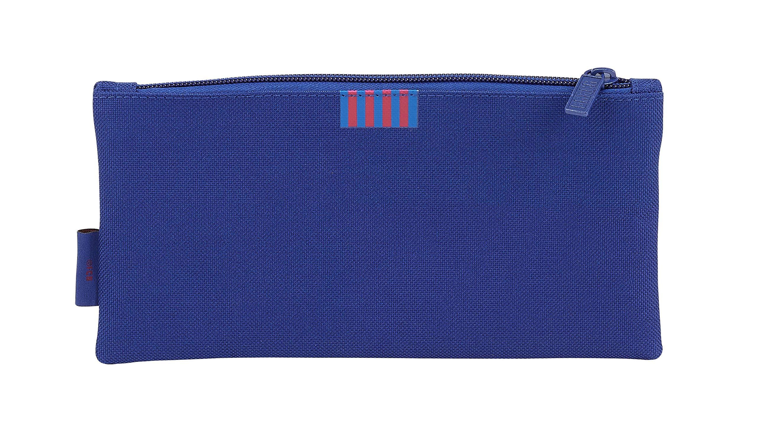 Safta Portatodo Dos Cremalleras FC Barcelona, Unisex, Azul, 22 cm
