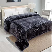 VYBBA Blankets || 3000 TC Super Soft Mink Double Bed Blanket for Winter , (Charcol Grey)