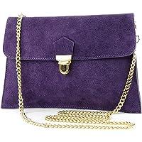 modamoda de -. ital Borsa scamosciata frizione borsa borsa borsa da sera Città T206, Colore:scuro Viola