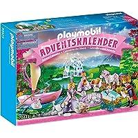 PLAYMOBIL Adventskalender 70323 Königliches Picknick im Park mit zahlreichen Figuren, Tieren und Zubehörteilen hinter…