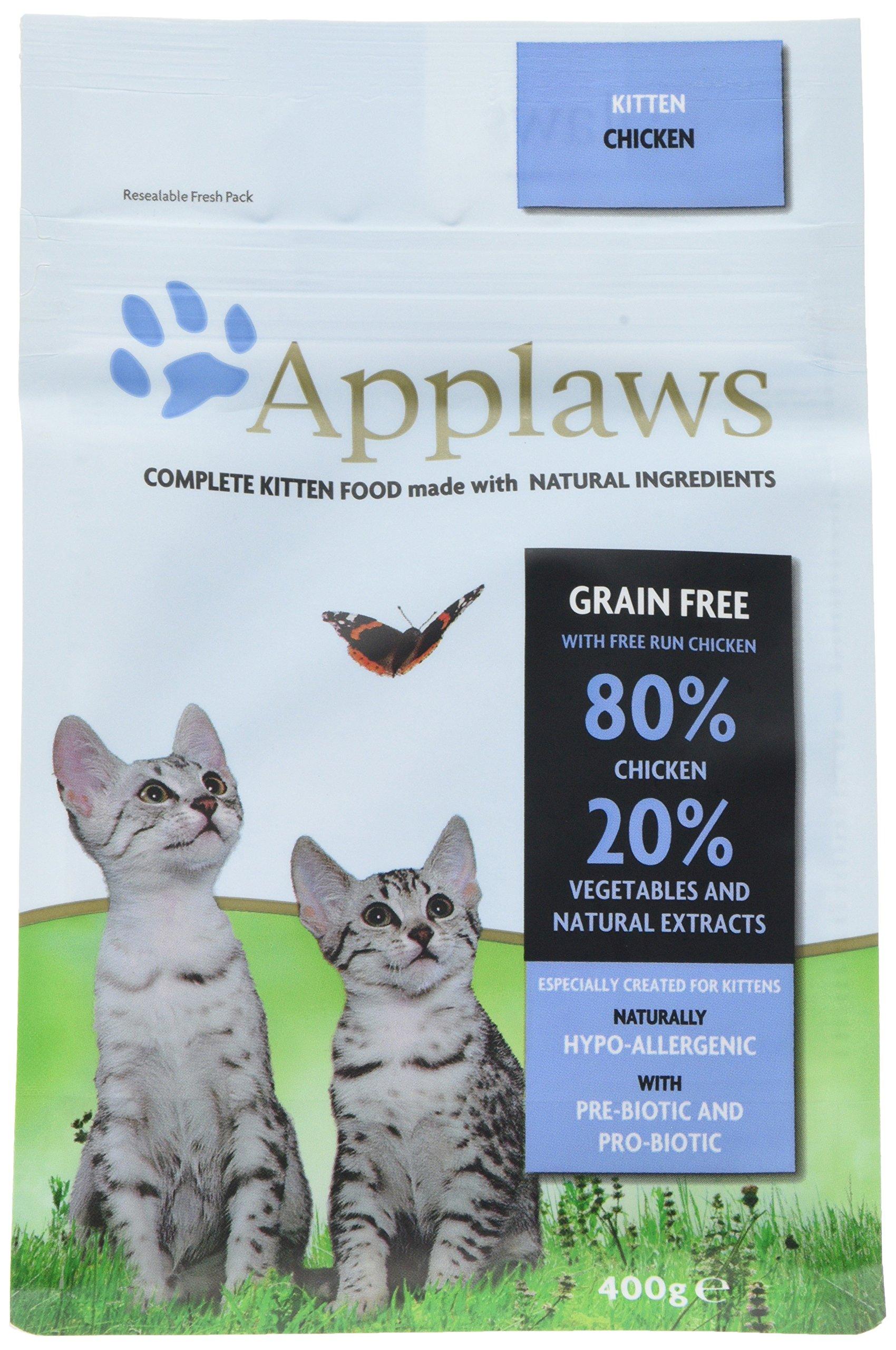 Applaws Comida seca para gatos, pollo y cordero/adulto, 2 kg