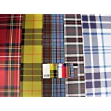 Audsemporium Ltd - 10 Sheets of Tartan - Plaid Wrapping Paper & 5 Gift Tags - Anderson, Stewart, Macleod + 2 Others