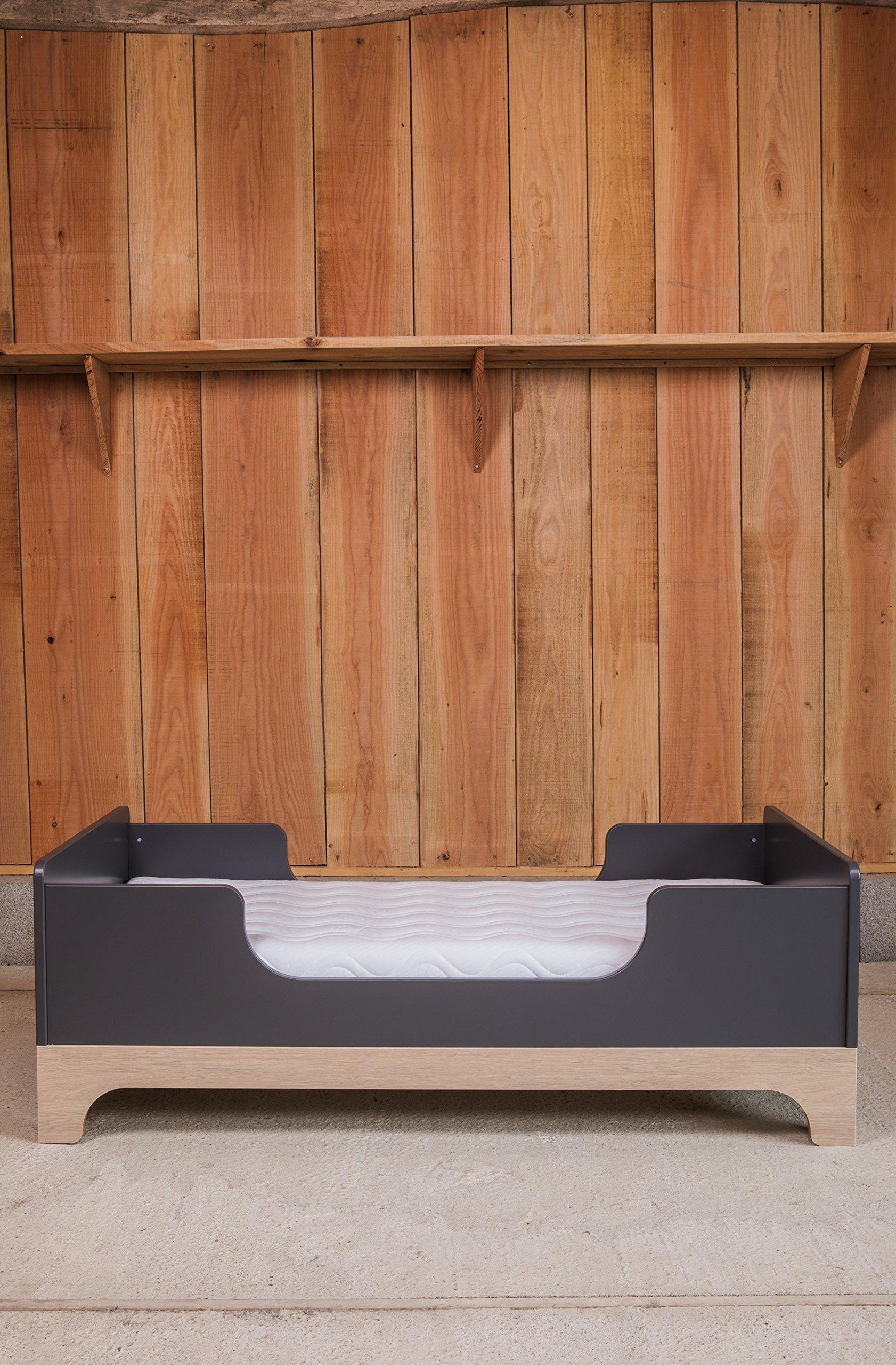Kadolis Calvi Convertible Bed - 70 x 140 cm Antracita/Madera   1