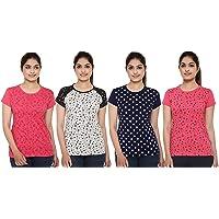 SHAUN Women T-Shirt (105WPtedN4_$P_Pack of 4)