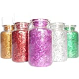 DBC Retail Multicoloured Sparkle Glitter Powder, Glitter Dust for Art & Craft,School and DIY Projects (Pack of 12, 15 g…