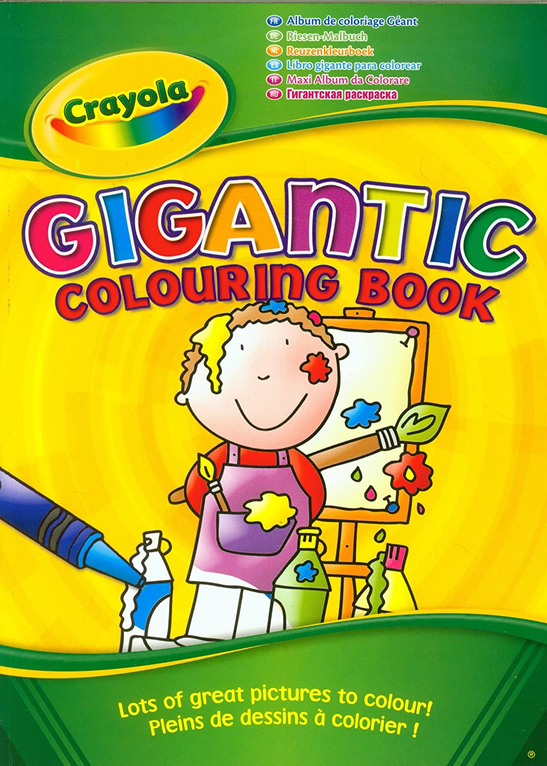 crayola gigantic 130 page a4 colouring book amazoncouk toys games