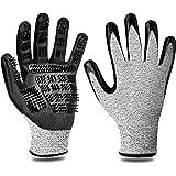 F® FLLUFFY Fellpflege-Handschuhe für Katzen Pferde Hunde, 2er-Pack Fellpflege Handschuh - Bürste für Katze Pferd Hund