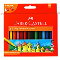 Faber-Castell Grip Erasable Crayon Set - Pack of 12 (Assorted)
