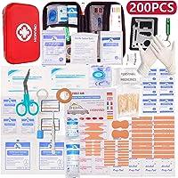 HONYAO Erste-Hilfe Set, Medizinisch Überlebens Kompakt Kit mit Leicht Harte Box für Auto Motorrad Zuhause Arbeitsplatz…