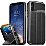 Vena iPhone X/XS Wallet Case, vCommute (Military Grade Drop Protection) Flip Leather Cover Card Slot Holder with…