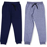 YUV Boy's Regular Fit Track Pant (Pack of 2)