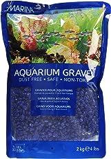 Marina Decorative Aquarium Gravel, 2 kg (Blue)
