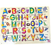 FunBlast Wooden Alphabet and Number Puzzles Toys for Children, Montessori Digital Board Educational Learning Letters…