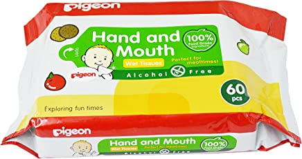 HAND AND MOUTH WIPES 60S, (Pack of 2)