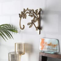 Two Moustaches Brass Dragon Fly Style Handmade Brass Wall Lantern Diya Hanger - Antique Finish