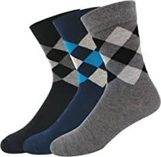 Navy Sport Men's Cotton Calf Length Socks Multicolour_Free Size - Pack of 3