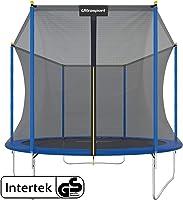 Ultrasport & trampolin.one Trampolino da giardino, trampolino per bambini, set completo inclusi tappeto elastico, rete...