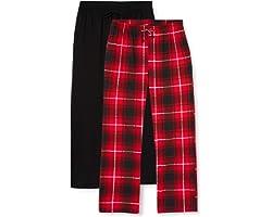 FM London (2-Pack) Men's Pyjama Bottoms | Flexible Waist, Soft Pyjamas