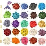 Funxim epoxyhars kleur 12x10g, zeepkleur set metallic kleur harskleur, Mica Poeder Pigmenten Poeder voor Zeep Hars Gegoten Ha