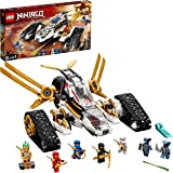 LEGO 71739 NINJAGO Legacy Ultra Sonic Raider 4in1 Vehicle Building Set with Motorbike and Plane Toy for Kids and 7 Minifigure