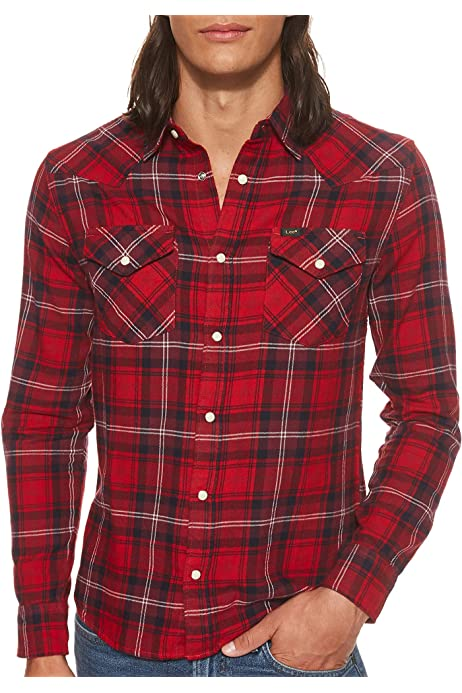 Lee Western Shirt Camisa, Dijon Ctpe, S para Hombre: Amazon.es: Ropa y accesorios