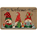 Felpudo Decorativo Navidad Alfombra Entrada de Gnomo Tomte Navidad Felpudo de Invierno Antideslizante y Lavable con Espalda G