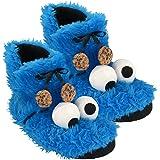 0122032 - Zapatillas del Monstruo de Las Galletas de Barrio Sésamo, de Felpa, de tamaño 41/42
