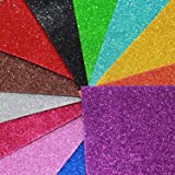 Happy Craft EVA Foam A4 Size Glitter Sheets for Arts and Crafts, Scrapbooking, Paper Decorations (Multicolour, 10 Pcs)